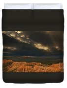 Panorama Storm Clouds Over Bryce Canyon National Park Utah Duvet Cover