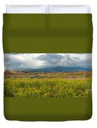 Panorama Striaght Cliffs And Rabbitbrush Escalante Grand Staircase  Duvet Cover