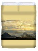 Panorama Sunset Aparaman And Towyen Tepuis Kavak Venezuela Duvet Cover