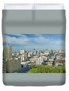 Panoramic Aerial View Of Durban, South Duvet Cover