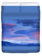 Panoramic Lenticular Clouds Over Sierra Nevada National Park Duvet Cover