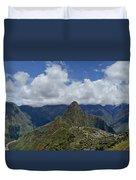 Panoramic Machu Picchu Duvet Cover
