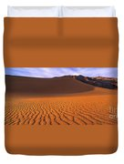 Panoramic Mesquite Sand Dune Patterns Death Valley National Park Duvet Cover