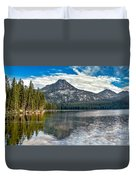 Panoramic Of Anthony Lake Duvet Cover