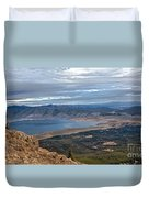 Panoramic Of Henry's Lake Duvet Cover