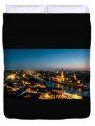 Panoramic Of Verona At Dusk Duvet Cover