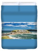 Panoramic Photo Of Bare Island Bridge Duvet Cover