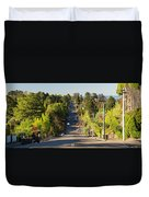 Panoramic Photo Of Katoomba Street Duvet Cover