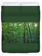 Panoramic Shot With Green Trees Duvet Cover