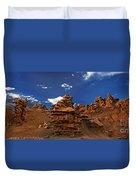 Panoramic Sunset Light On Sandstone Formations Fantasy Canyon  Duvet Cover
