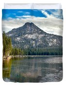 Panoramic View Of Anthony Lake Duvet Cover