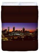 Panoramic View Of Atlanta Skyline Duvet Cover