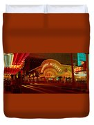 Panoramic View Of Golden Nugget Casino Duvet Cover