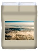 Panoramic View Of Landscape Of Mountain Range Duvet Cover