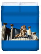 Panoramic View Of Mgm Lion And Mgm Duvet Cover