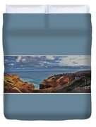 Panoramic View Of The Grotto Duvet Cover