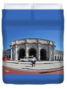 panoramic View of Union station in Washington DC Duvet Cover