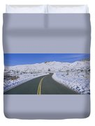 Panoramic View Of Winter Snow Duvet Cover