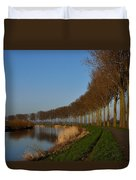 Panoramic View On Pottes - Belgium Duvet Cover