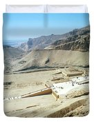 Panoramic View Over Hatschepsut Temple Duvet Cover