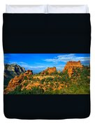 Panoramic View, Sedona, Arizona Duvet Cover