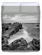 Ballycastle - Pans Rock To Rathlin Island Duvet Cover