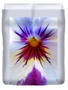 Pansy Abstract 1 Duvet Cover