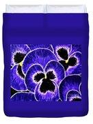 Pansy Expressive Brushstrokes Duvet Cover
