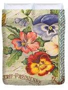 Pansy Garden-b Duvet Cover