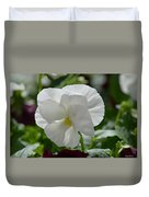 Pansy Purity Duvet Cover