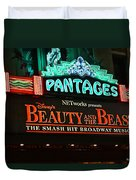 Pantages Theather Marquie Duvet Cover