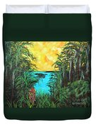 Panther Island In The Bayou Duvet Cover