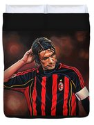 Paolo Maldini Duvet Cover by Paul Meijering