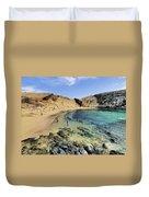 Papagayo Beach On Lanzarote Duvet Cover