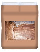 Paper Bark Background Duvet Cover