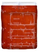 Paper Currency Patent From 1962 - Red Duvet Cover