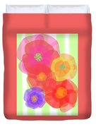 Paper Flowers Duvet Cover