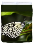 Paper Kite Butterfly On A Leaf  Duvet Cover