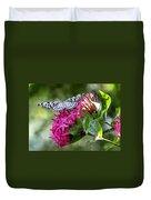 Paper Kite On Fluid Blossoms Duvet Cover
