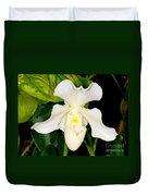 Paphiopedilum Orchid Duvet Cover