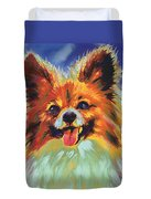 Papillion Puppy Duvet Cover