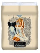 Papillon Art - Una Parisienne Movie Poster Duvet Cover