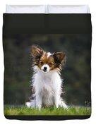 Papillon Dog Duvet Cover