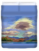 Papoose Lake And Clouds Duvet Cover