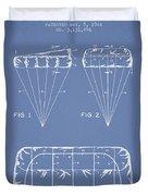 Parachute Design Patent From 1964 - Light Blue Duvet Cover