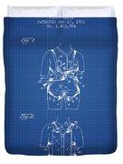 Parachute Harness Patent From 1922 - Blueprint Duvet Cover