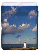 Paradise Island Lighthouse Duvet Cover by Stephanie McDowell