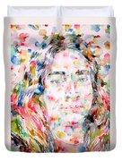 Paramahansa Yogananda Watercolor Portrait Duvet Cover
