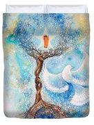 Paramhansa Yogananda - Mist Duvet Cover