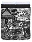 Parasurama, Sixth Avatar Of Vishnu Duvet Cover